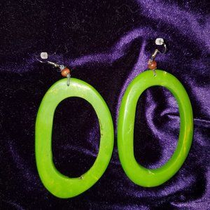 Green resin hoops - NEW